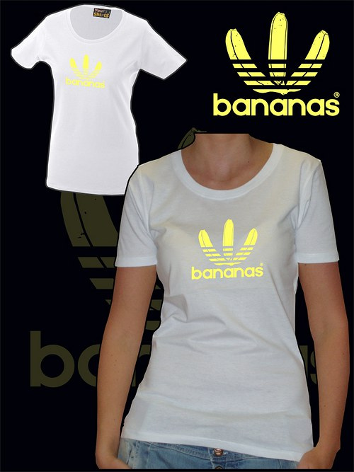 Dámské bílé tričko Bananas