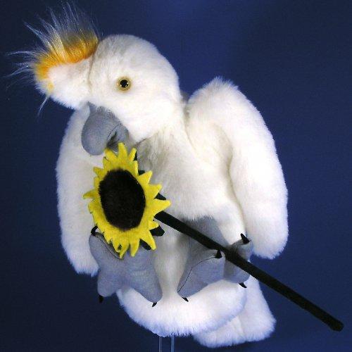 Kakadu - papoušek - autorská hračka