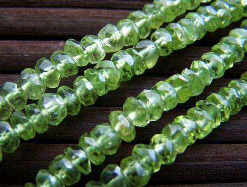 Olivín - rondelky (2 ks)