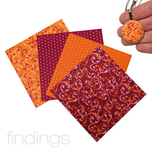 Origami papír 10 x 10 cm / Mix čis. 2 / 4 ks