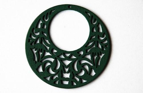dřevěné kolečko - zelené