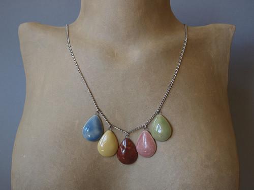 Keramický náhrdelník - kapka