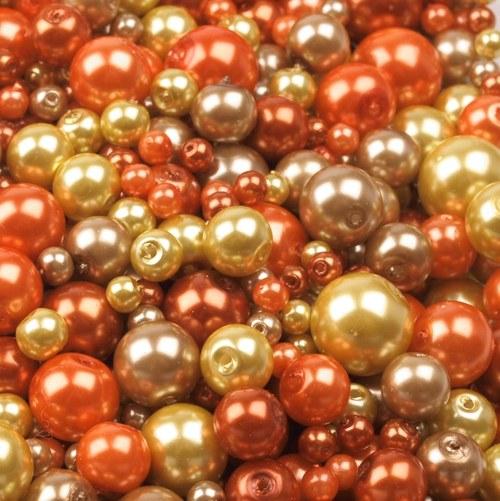 Voskované perly mix, 50g - 41,- Kč