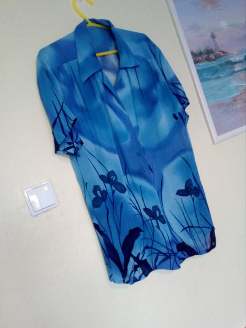 letní modrá tunika 42-44