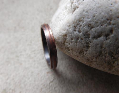 Měděný prsten ...se vzorkem
