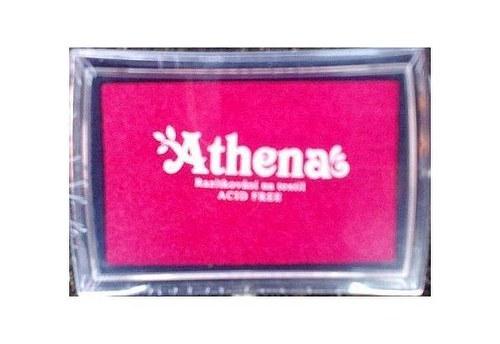 Razítkovací polštářek pro tisk na textil růžová