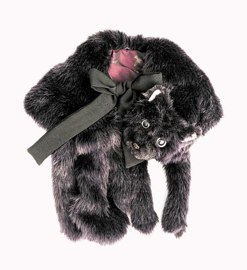 Pověsím se Ti na krk. Tvoje tmavě fialové koťátko.