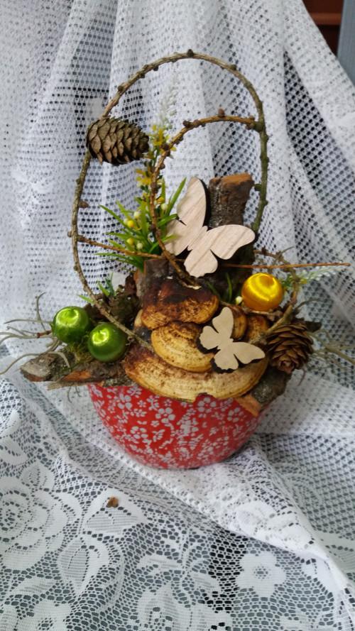 letní přírodní dekorace na stůl