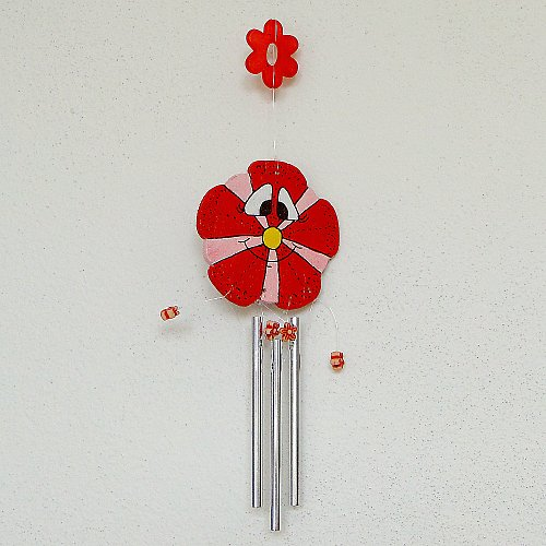 Zvonkohra červená kytka