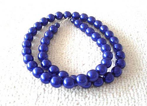 Náhrdelník vosk jasně modrý