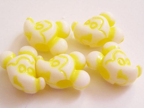 Dětské korálky - myšák žlutý