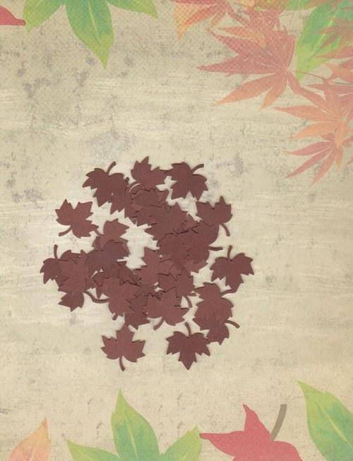 Listy javoru - tm. hnědé výseky (30 ks)