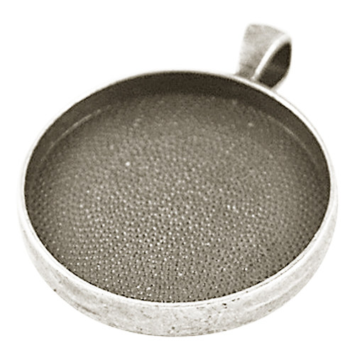 přívěsek kruh masiv/ ant.stříbro/ 41x32mm/ 1ks