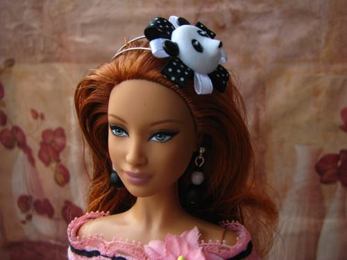 Čelenka pro Barbie nebo Monster High -  panda