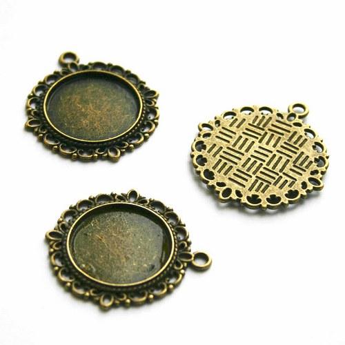 lůžko kulaté ozdobné bronz
