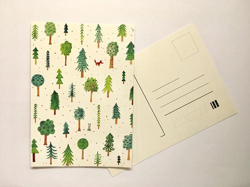 Pohlednice les.