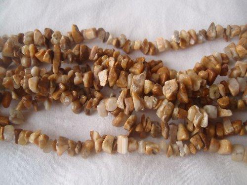 Zlomky Jaspis - pískový, cena je za 10 cm návleku!