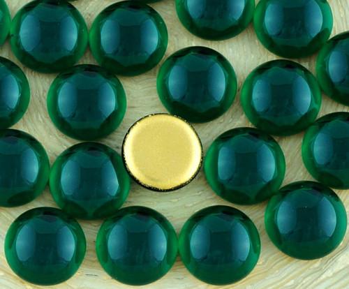 10ks Crystal Malachitové Zeleně Zlato Klenutá Kolo