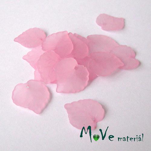 Akrylové transparentní lístečky, 15ks, sv. růžové