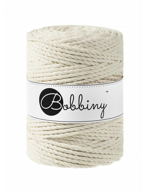 Bobbiny Macrame 3PLY XXL 5mm (100m)- NATURAL