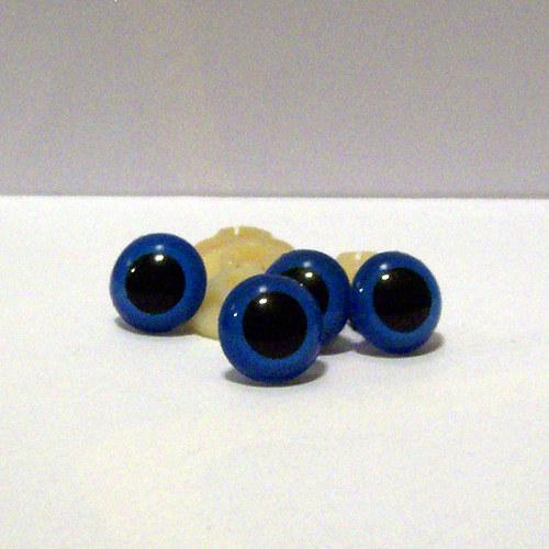 Bezpečnostní oči - modrá, 17 mm