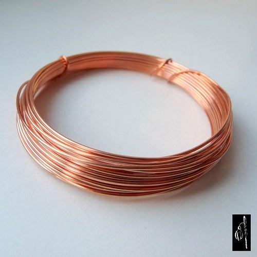 Nelakovaný měkký měděný drát 1,0 - 5 m