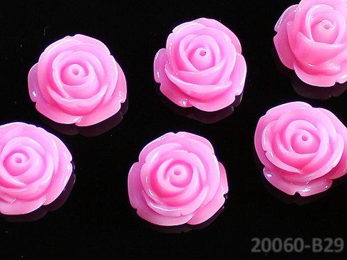 20060-B29 Kabošon květ růže RŮŽOVÝ NEON, bal. 2ks