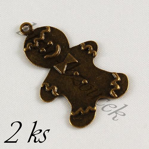 Perníček bronzové barvy - 2ks