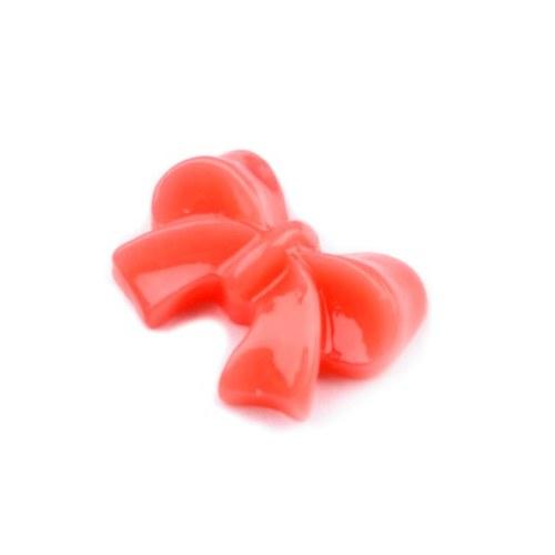 Plastová mašlička oranžová - kabošon - 2 ks