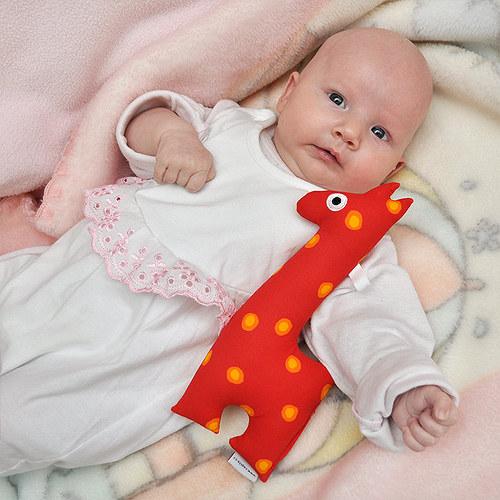 Žirafa - textilní hračka