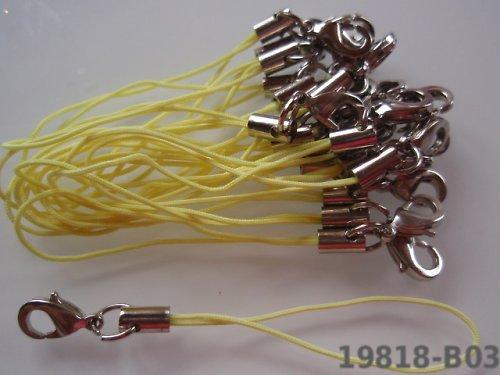 19818-B03 Poutka na mobil / karabinka 2ks žluté