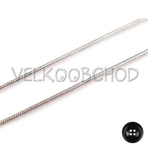 Řetízek hadí 0,1x40cm - stříbrná (1 m)