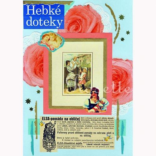 Hebké doteky - fotoreprodukce autorské koláže