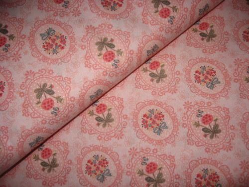 bavlněná látka-růže