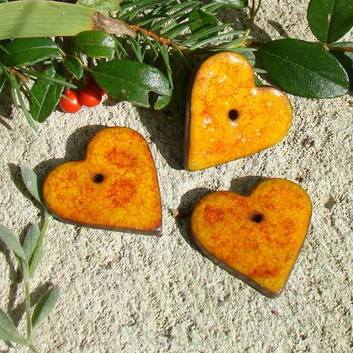 keramické ozdoby - srdce
