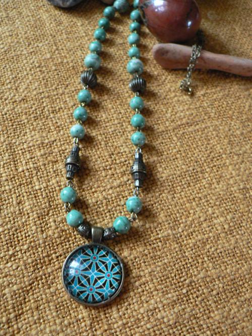 Rozjímání - náhrdelník s mandalou