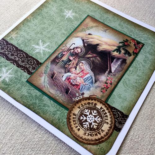 Přáníčko vánoční se zdobenou obálkou