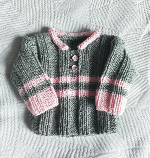Ručně pletený svetr vel. cca 6-12 měsíců