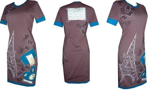 PAŘÍŽ HNĚDÁ - šaty dámské