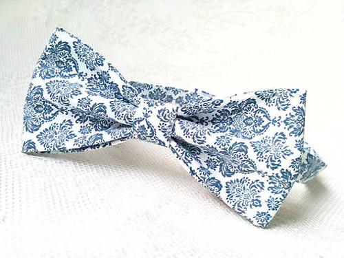Blue orient bow tie
