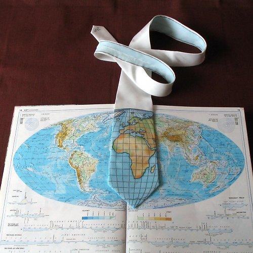 Zeměpisná kravata AFRIKA A EVROPA
