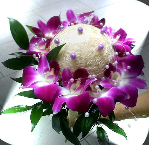 svatební kytice dendrobium
