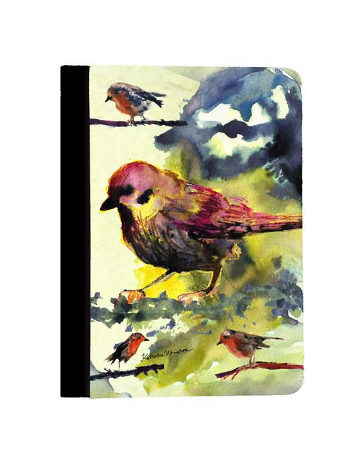 Ptačí - iPad Mini Obal Koženka