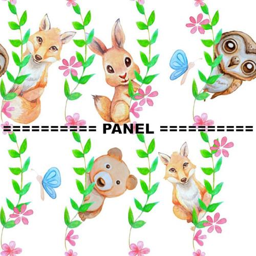 bavlněná látka - panel DT 9 x 9 cm