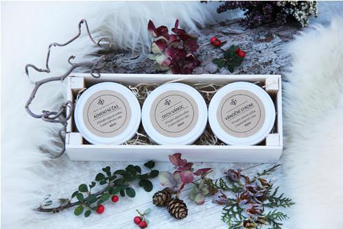 DÁRKOVÁ SADA Vánočních svíček  I- limitovaná edice