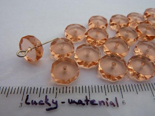 Rondelky růžové 9x3 mm .... 20 ks