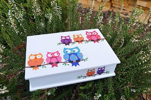 Krabička - sovy