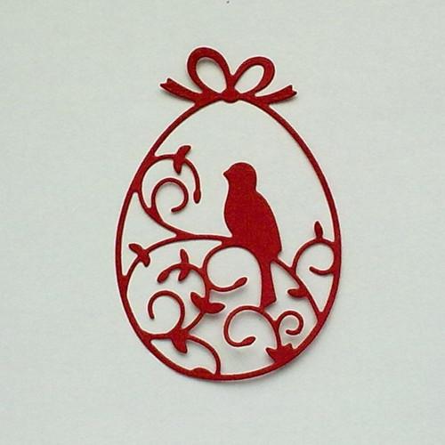 Výsek - Kraslice s ptáčkem