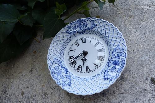 V modré... porcelánové cibulákové hodiny