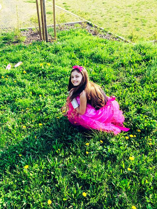 Tylová sukně - dětská  s čelenkou